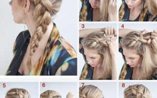 8 этапов плетения обратной французской косы: инструкция для модниц