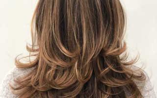 Каскад без челки на длинные волосы – рваная прическа