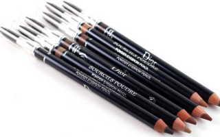 Как накрасить брови карандашом естественно