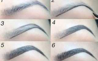 Как красить брови краской для бровей