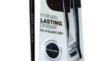Обзор подводки EyeStudio Lasting Drama Gel Eyeliner от Maybelline New York
